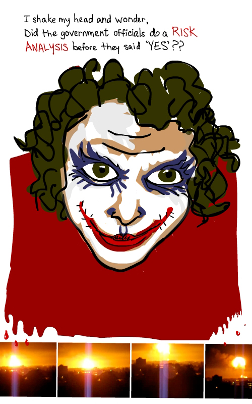 drawing of joker by Franke James