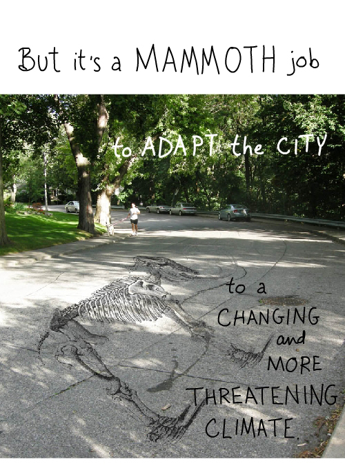 mammoth superimposed on Franke James road photo