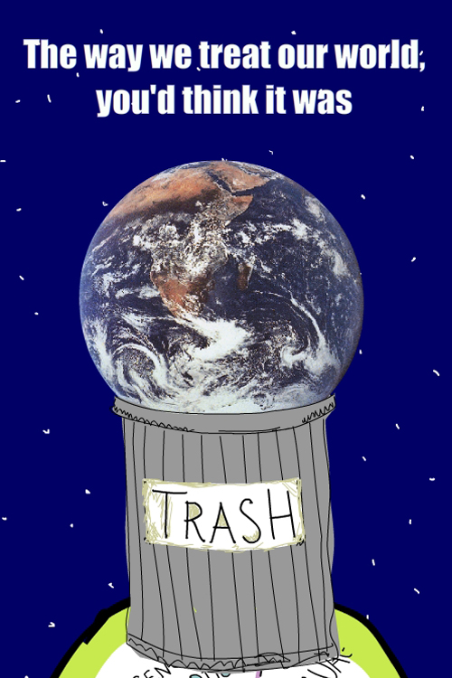 disposable earth illustration by Franke James