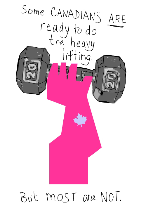 Heavy lifting illustration