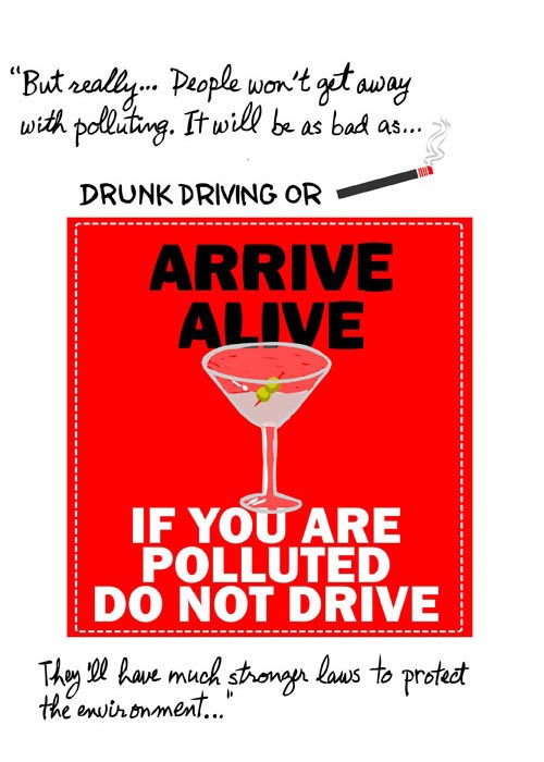 franke james illustration of polluting will be like drunk driving