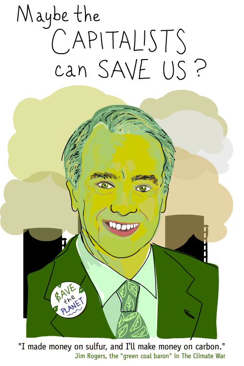 Illustration of Jim Rogers by Franke James, based on press photo