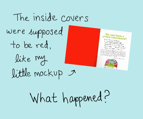 un-red page versus red page mockup illustration by franke james
