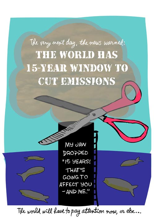 World has 15 years to cut emissions
