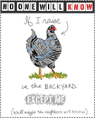 chicken bookplates for download, illustrations by franke james