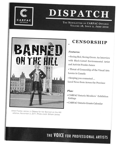 CARFAC Dispatch: Censorship - Franke James