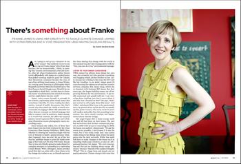 Photo of Franke James by Kourosh Keshiri for Green Living Magazine