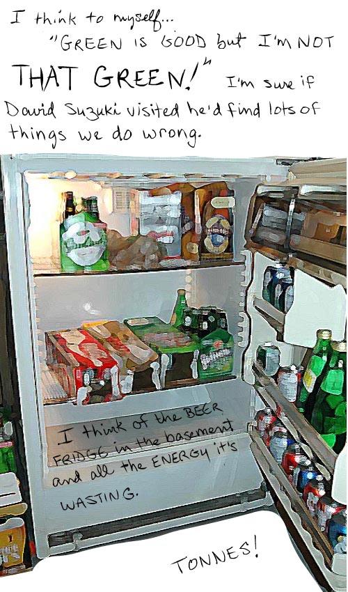 energy sucking beer fridge