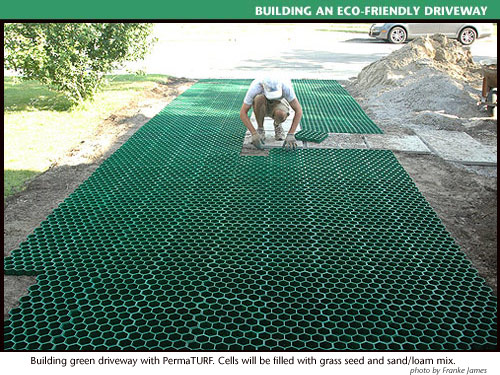 building green permeable driveway=