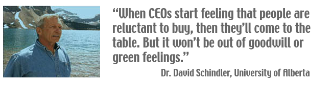 When CEOs start feeling that people are reluctant to buy, then they'll come to the table. But it won't be out of goodwill or green feelings.