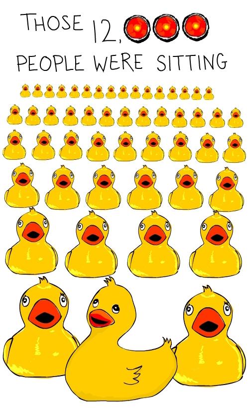 Sitting Duck illustration by Franke James