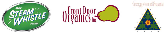 sponsors: Steam Whistle, Front Door Organics, Frog Pond Farm