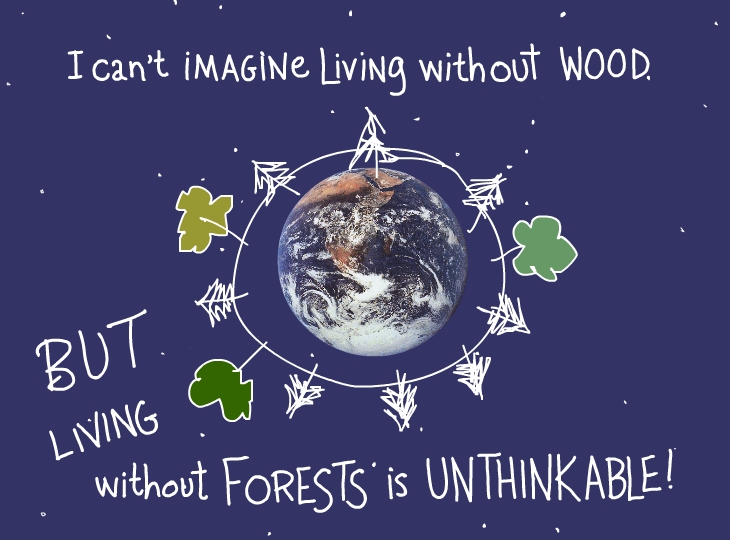 But living without forests is unthinkable photo illustration by Franke James