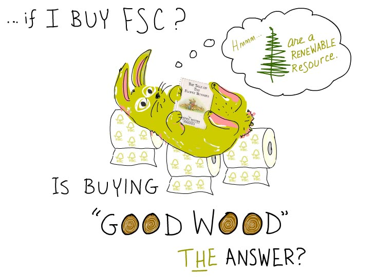 Is buying good wood the answer, illustration by Franke James