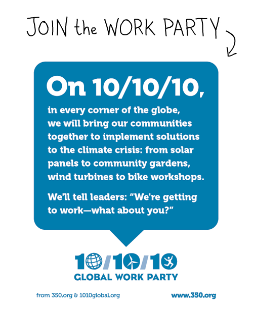 10/10/10 Poster from 350.org