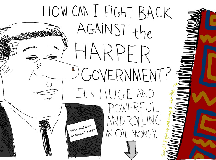 Harper Gov is huge illustration by Franke James