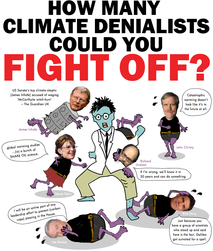 Climate Denial illustration and quiz copyright 2012 Franke James