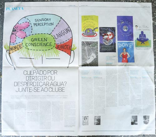 Estado de S. Paulo, Brazilian newspaper featuring Franke James work