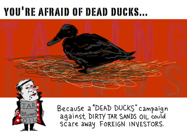 Youre afraid of dead ducks -- illustration by Franke James 