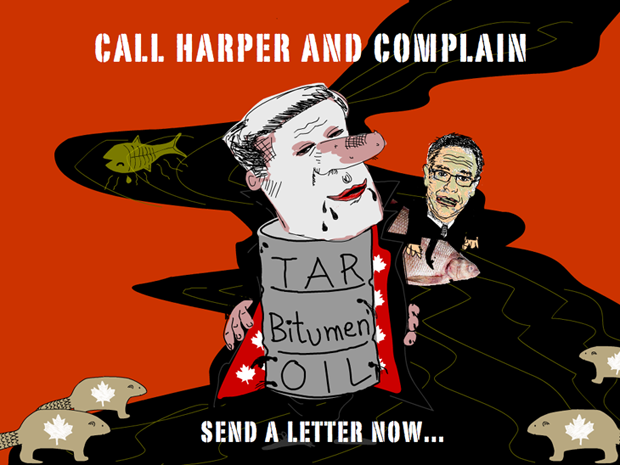 Call Canada's Prime Minister Harper! illustration by Franke James