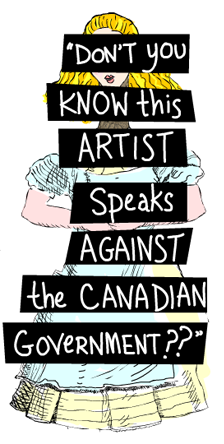 Canadian Embassy secretly warns NGO Nektarina not to exhibit my art