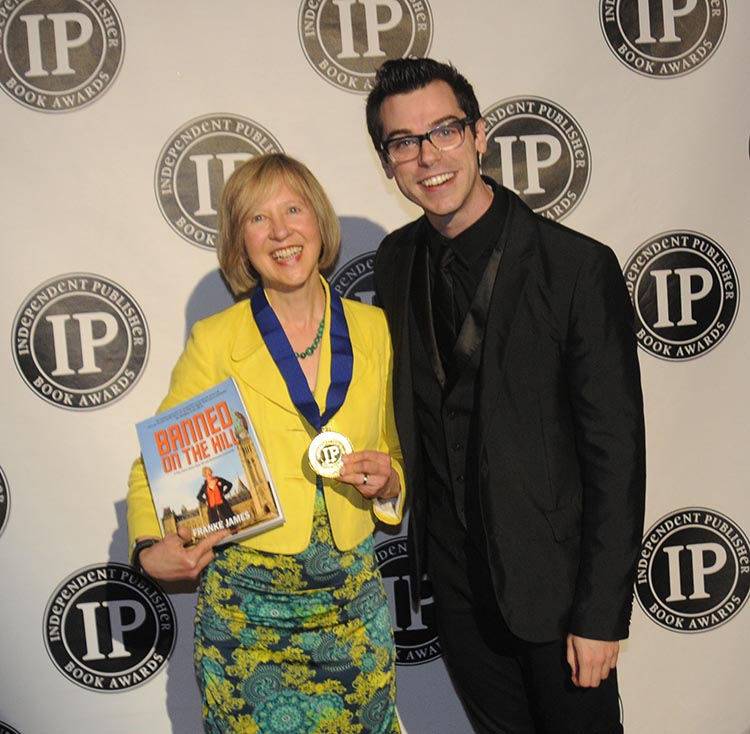 Franke James accepts Gold Book Award in New York City on May 28 2014