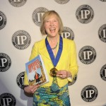 Franke James accepts Gold IPPY Award in New York City May 28 2014