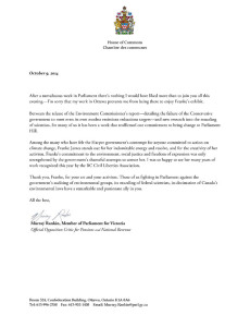 Murray Rankin MP Letter to Franke James