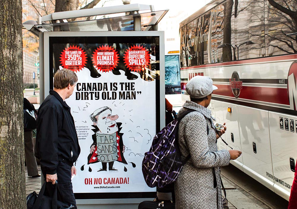 Franke James poster Canada is the Dirty Old Man in Washington DC