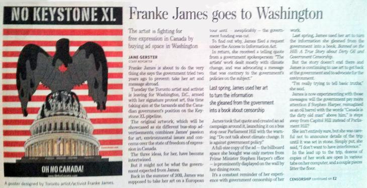 TorontoStar_FrankeJamesGoesToWashington_Oct7
