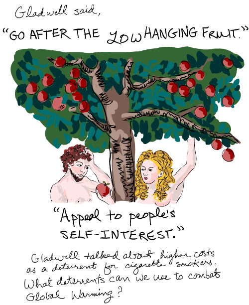 inspired by Adam and Eva by Lukas Cranach the Elder; illustration by franke james
