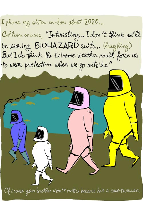 people won't be wearing biohazard suits