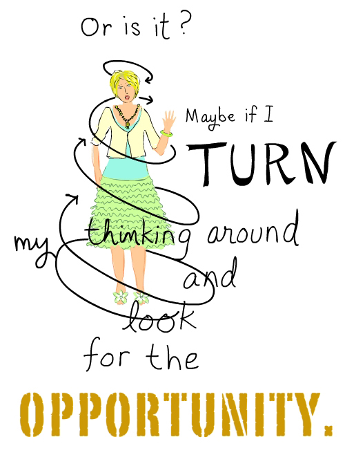 turn thinking around illustration by franke james