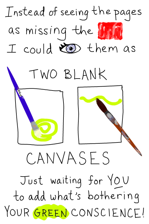 two canvases illustration by franke james