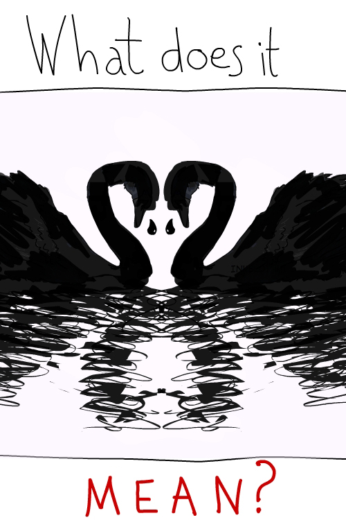 Black Swan event drawing from Ending the Climate War by Franke James