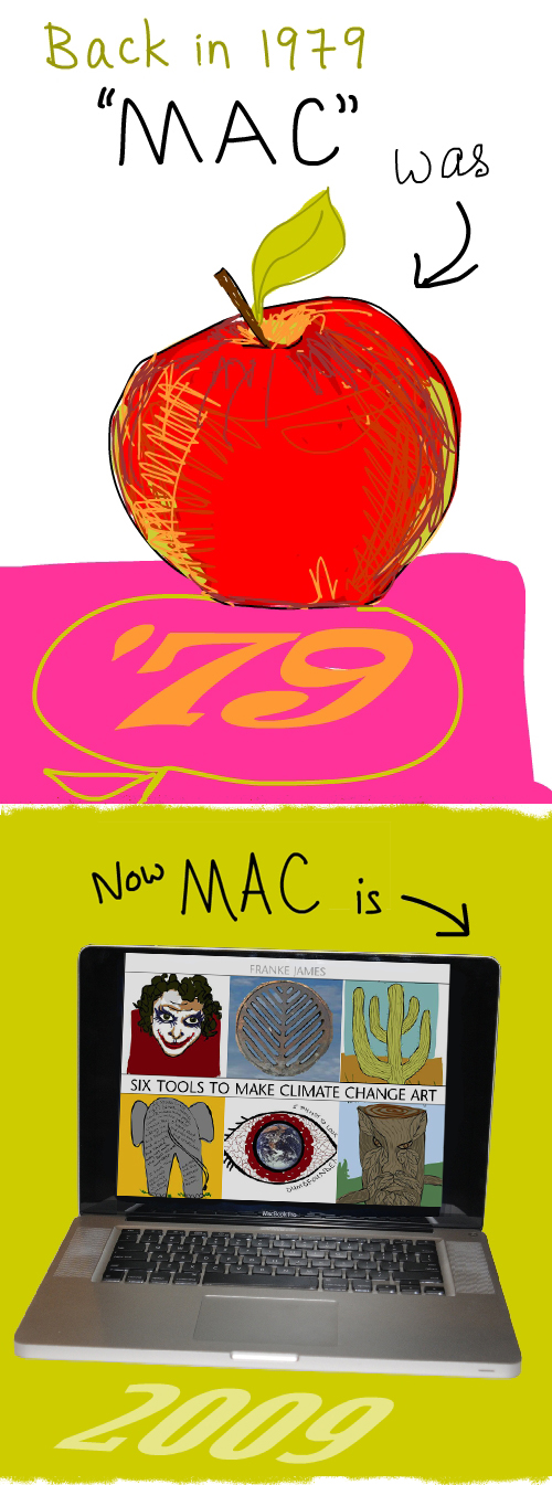 apple drawing and laptop photo by Franke James