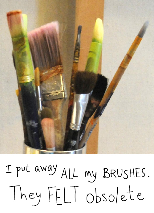 photo of paintbrushes by Franke James