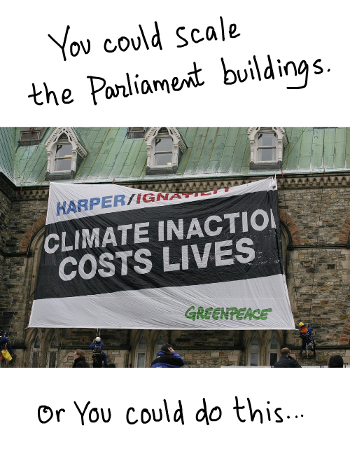Greenpeace Canada photo of Ottawa action Dec 7 2009