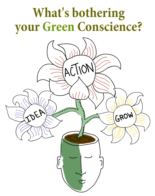 green conscience illustration by Franke James