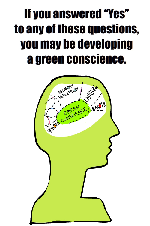 green conscience test and drawing by Franke James
