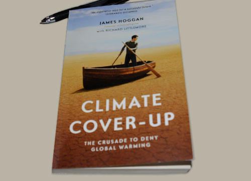 climate coverup book by james hoggan with richard littlemore photo by franke james