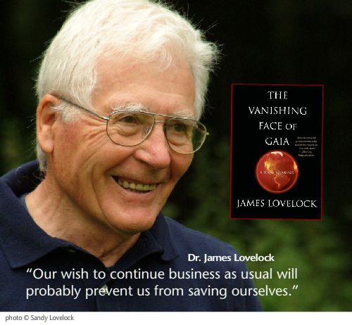 Dr. James Lovelock photo by Sandy Lovelock;