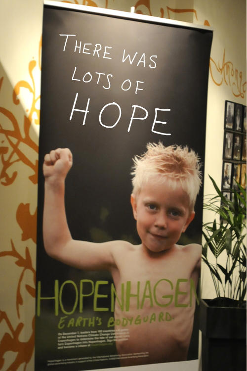 photo of Hopenhagen sign in hotel lobby by Franke James