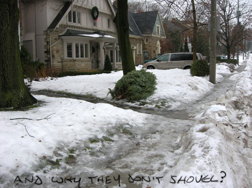 and why they don't shovel?