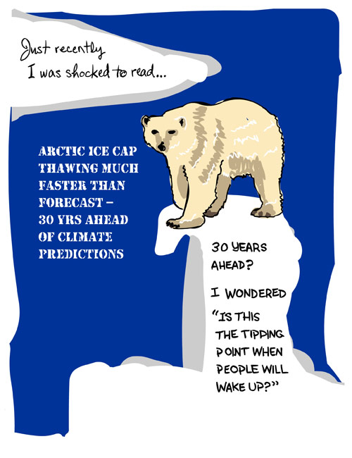 polar bear drawing by Franke James from 2007 To My Future Grandkids essay