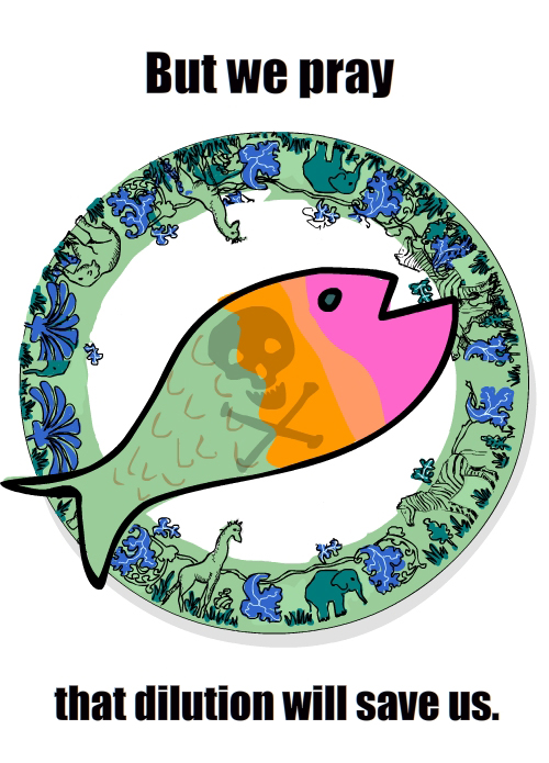 fish on plate illustration by Franke James