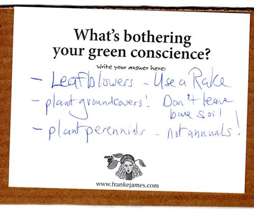 leaf blower response card