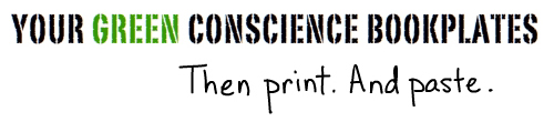 your green conscience bookplates header