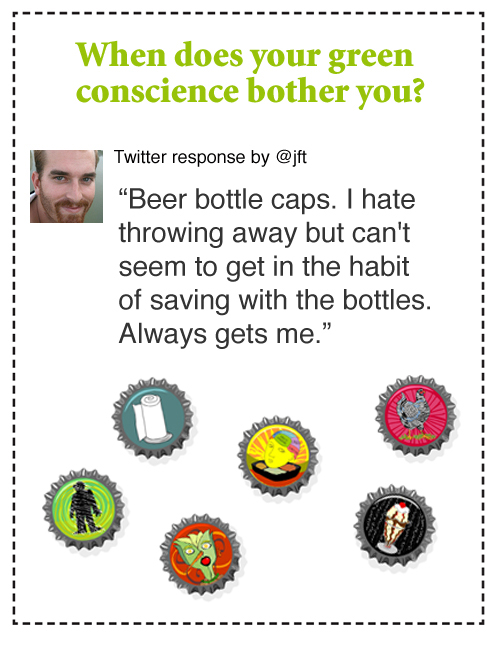twitter beer caps green conscience illustration by franke james