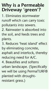 benefits of green driveway